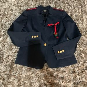 Nine West  military style blazer with red details